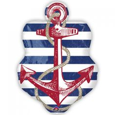 Anagram 30 x 21 inch Anchors Aweigh Anchor Foil BalloonNautical Sailor Mylar Balloon 30 ' Inch best for decoration. Anchors aweigh and ahoy! Prepare to sail the seven seas or for fun around the pool, this Anchor balloon is sure to delight!Retail Packing ViewQUALITY PRODUCTS ALWAYSOUR PRODUCTS ARE 100% AUTHENTIC & GENUINE100% OF THE TIMEFoil balloons make decorating for your party easy and fun. Add to a balloon bouquet or tie to the birthday child's chair for a great look!Pattern is p...