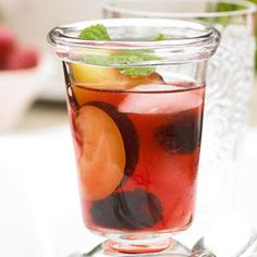 Blackberry Sangria This bright sangria recipe, sweetened with a summer-ripe blackberry syrup, will inspire guests to linger for just one more glass.