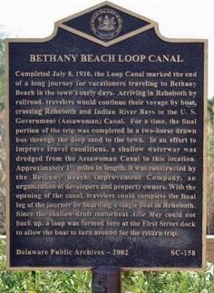 Bethany Beach Loop Canal Marker. Click for full size.
