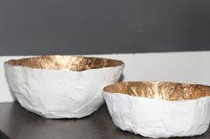 Online Interior Design- DIY gold leafed bowls