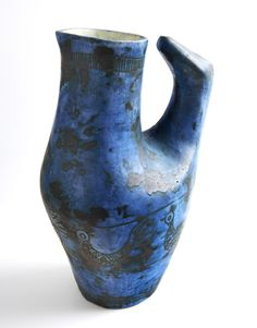 Jacques Blin; Glazed Ceramic Vessel, 1950s.
