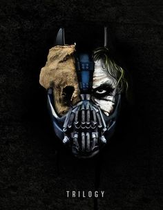 The Dark Knight Trilogy. This is awesome!! Would make a great Batman tattoo.