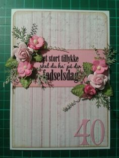 Fødselsdags kort/birthday card