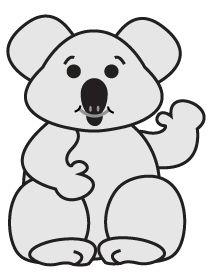 how to draw a koala cartoon character aplique urso