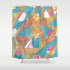Gel Print 5 Shower Curtain by Rachel Winkelman - $68.00