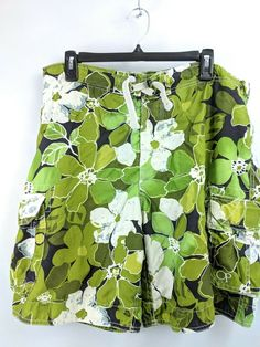 c6ea5a31d6fff Ocean Pacific OP Mens Swim Trunks Size 38 Green Mesh Lined Cargo Pockets  #fashion #