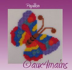 Butterfly hama perler by aux4mains