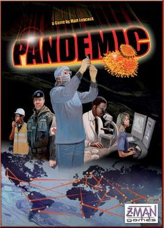 Pandemic Boardgame | Play as a team working for the CDC to eradicate four strains of a killer epidemic. Apocalyptic fun for all.