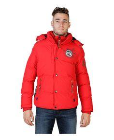 Geographical norway - giubbotto uomo con cappuccio rimovibile - esterno 100% poliammide, rivestimento e imbottitura 100% - Giacca uomo  Rosso