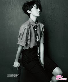 singles korea june 2012 - The Singles Korea June 2012 'The Boy' editorial brandishes an androgynous subject throughout. Model Kang Min Kyung is found here with a. Tomboy Haircut, Androgynous Haircut, Tomboy Hairstyles, Androgynous Fashion, Tomboy Fashion, Pixie Hairstyles, Style Garçonne, Boyish Style, Pretty People