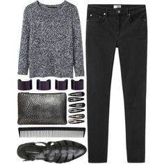 """""""escape"""" by ferned on Polyvore. Outfit casual y comodo."""