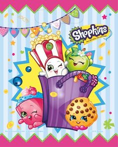 Having a Shopkins party? Get my free printable Shopkins cupcake toppers. They make a great addition to a Shopkins party theme. Shopkins Goodie Bags, Loot Bags, Party Favor Bags, Birthday Box, Birthday Party Favors, Birthday Decorations, Decoration Party, Birthday Cards, Happy Birthday