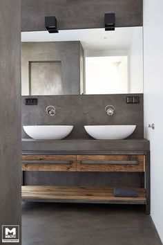 Browse modern bathroom ideas images to bathroom remodel, bathroom tile ideas, bathroom vanity, bathroom inspiration for your bathrooms ideas and bathroom design Read Bathroom Renos, Bathroom Furniture, Bathroom Interior, Small Bathroom, Master Bathroom, Concrete Bathroom, Bathroom Flooring, Concrete Sink, Bathroom Remodeling