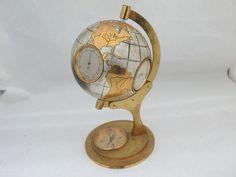 Angelus Swiss Globe Barometer Thermometer Hygrometer Weather Station Watch Clock