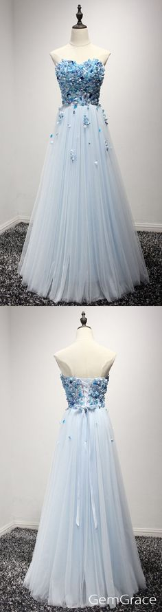 A-line tulle prom dress