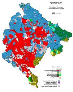 Verteilung der Ethnien nach Gemeinden 2011 // Montenegro Ethnic 2011 ◆Montenegro – Wikipedia http://de.wikipedia.org/wiki/Montenegro #Montenegro