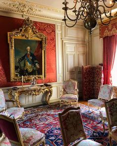 Beautiful Interiors, French Interiors, Interior Design And Construction, Episode Backgrounds, English Interior, Living Room Red, Royal Palace, Drawing Room, Grey And White
