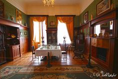 RUSSIAN SUMMER MANORS ~ The Livadia Palace, The Crimea, The Ukraine. It is the favorite dinning room of Nikolay II's family. Seems, this room is still waiting for them...