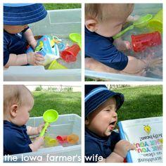 Toddler Approved!: Water Baby Sensory Bin {via The Iowa Farmer's Wife}
