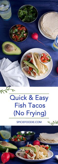 Quick and Easy #Fish #Tacos (No Frying) | #MexicanFood #healthyrecipes