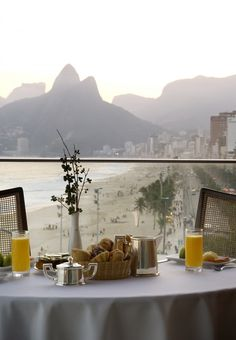 breakfast with a stunning view at fasano hotel, rio