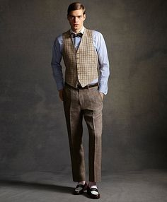 Tattersall Vest - Brooks Brothers' The Great Gatsby Collection ($248)