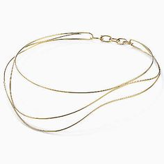 Elsa Peretti® Wave necklace in 18k gold.