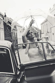 Umbrella#wedding# rain# bride# romantic