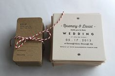 simple wedding invitation for a rustic event @myweddingdotcom