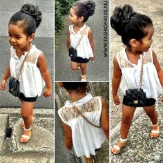 With black shorts or black skinnies :) she's so cute!