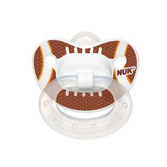 "NUK Trendline Sports Orthodontic 18 - 36 Months Size 3 Silicone Pacifier 2 Pack - Football - Nuk - Babies""R""Us"