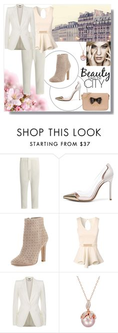 """""""Beauty takes the city"""" by maryann-bunt-deile ❤ liked on Polyvore featuring Nili Lotan, Gianvito Rossi, Joie, Jane Norman, Alexander McQueen and Vivienne Westwood"""