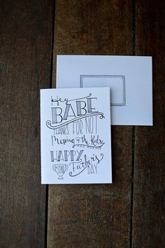 Funny Father's Day card for husband hipster dad by TheHipsterHousewife