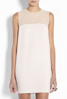 Gorgeous simple shift for rehearsal dinner or daytime wedding.  Powder Crepe Shift Dress by Joseph