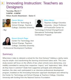 EdTechSandyK: Innovating Instruction: Teachers as Designers #SXSWedu