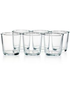 Martha Stewart Collection Everyday Entertaining Set of 6 Double Old Fashioned Glasses - Glassware & Stemware - Dining & Entertaining - Macy's