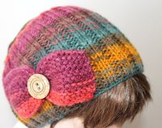 Hand Knitting Multicolor Head Band Women by BYBERRDESIGNS on Etsy, $20.00