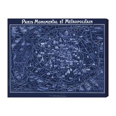 The Oliver Gal Artist Co. Paris Metro Vintage Map - was $245.0, now $110.0 (55% Off). Picked by amyb @ Fab.com