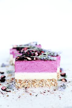 Raw Boysenberry & Vanilla Bean Cheesecake