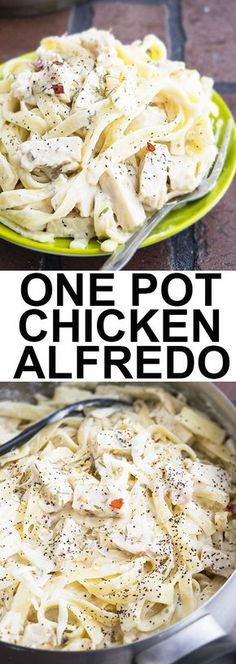This guilt free ONE POT HEALTHY FETTUCCINE ALFREDO recipe is easy to make with simple ingredients. This skinny fettuccine alfredo recipe is rich, creamy and includes no heavy cream or butter. It's the perfect chicken alfredo recipe! From http://cakewhiz.com