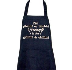 Funny BBQ Grilling Apron, No Bitching, Custom Birthday Gift, Dad, Mom, Boss, Friend, Sister, Personalize With Name, Ships TODAY, AGFT 1059 Funny Aprons, Grill Apron, Grillin And Chillin, Selling Handmade Items, Grilling Gifts, Personalized Birthday Gifts, Wife And Girlfriend, Sewing Studio, How To Make Cookies