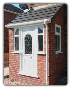 Porch, red brick white uPVC door and windows