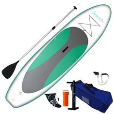 SereneLife Inflatable Stand Up Paddle Board Inches Thick) with Premium SUP Accessories & Carry Bag Best Inflatable Paddle Board, Inflatable Sup, Stand Up Paddling, Paddleboard For Sale, Best Paddle Boards, Sup Accessories, Water Shoes For Men, Sup Stand Up Paddle, Aqua Shoes