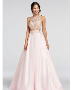 David's Bridal Two-piece chiffon gown