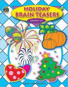 Holiday Brain Teasers-Teacher Created Resources