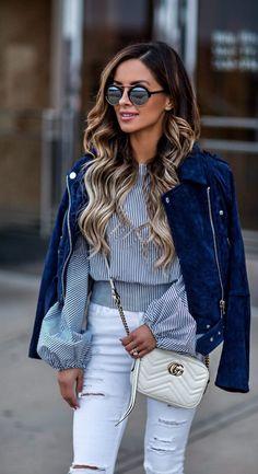 Suede moto jacket. For Everyone. Blog @ #DapperNDame Pinterest. dapperanddame.com