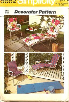 VTG Simplicity 5662 Cushion Covers For Outdoor Chair And Chaise lounge, Patio Furniture Sewing Pattern, UNCUT by DawnsDesignBoutique on Etsy