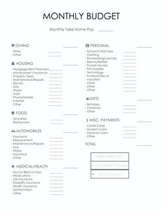 """Use our free monthly budget printable to do what Dave Ramsey says and """"tell every dollar where to go."""" Give every dollar a name & feel like you got a raise! Budget Chart, Sample Budget, Budget Help, Planning Budget, Monthly Budget Printable, Monthly Budget Planner, Monthly Expenses, Budget Binder, Budgeting Finances"""