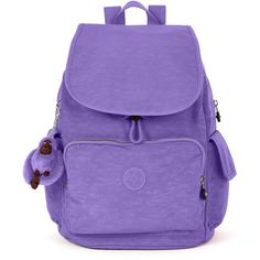 Kipling Ravier Backpack (175 BRL) ❤ liked on Polyvore featuring bags, backpacks, purses, mochila, french lavender, backpack bags, travel daypack, knapsack bag, rucksack bags and kipling backpack