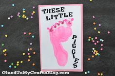 Little Piggies - Footprint Card Keepsake